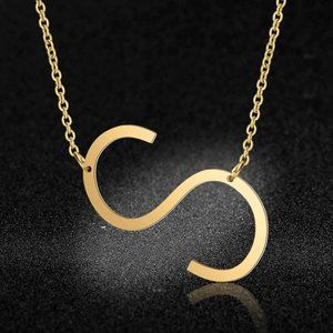 Jewelry - Stainless Steel Fashion Monogram S Necklace